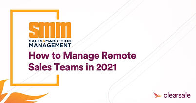 How to Manage Remote Sales Teams in 2021