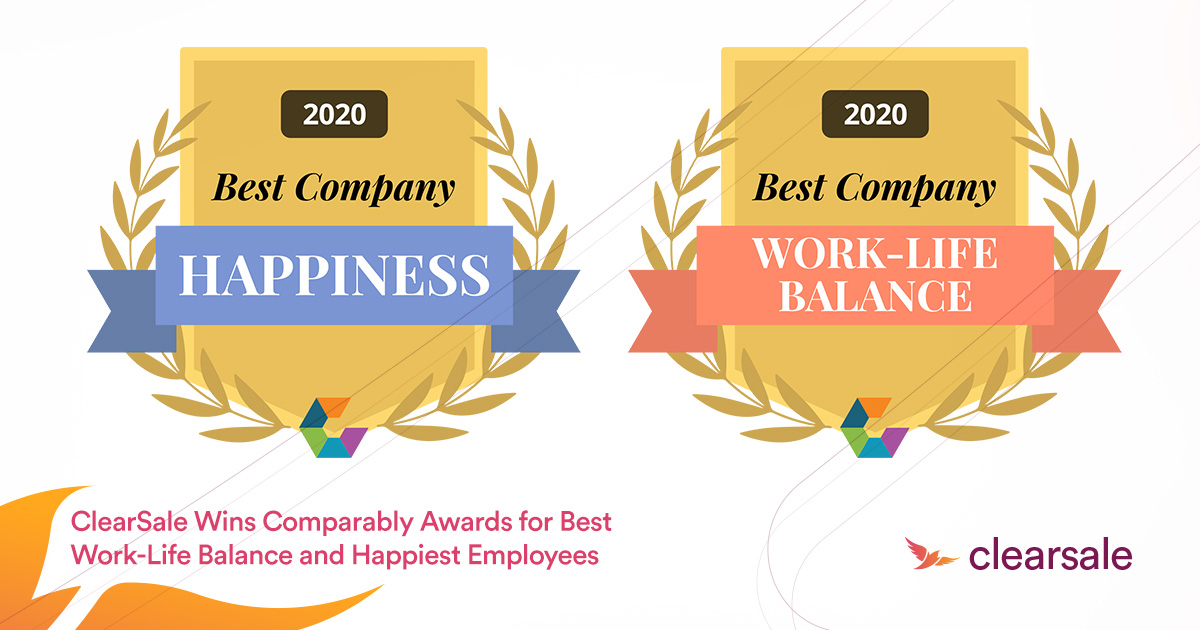 ClearSale Wins Comparably Awards for Best Work-Life Balance and Happiest Employees