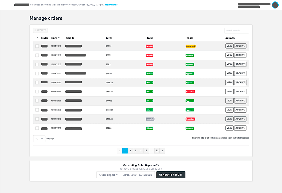 fraud-detection-sitemanager-view