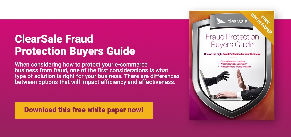ClearSale Fraud Protection Buyers Guide