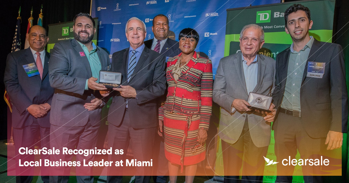 ClearSale Recognized as Local Business Leader at Miami