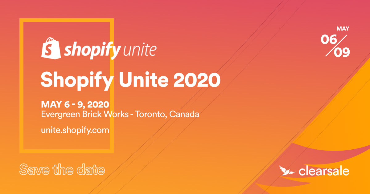 SaveTheDate - Shopify Unite 2020 -wide